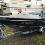 Vendu:  Alumacraft escape 145 tiller