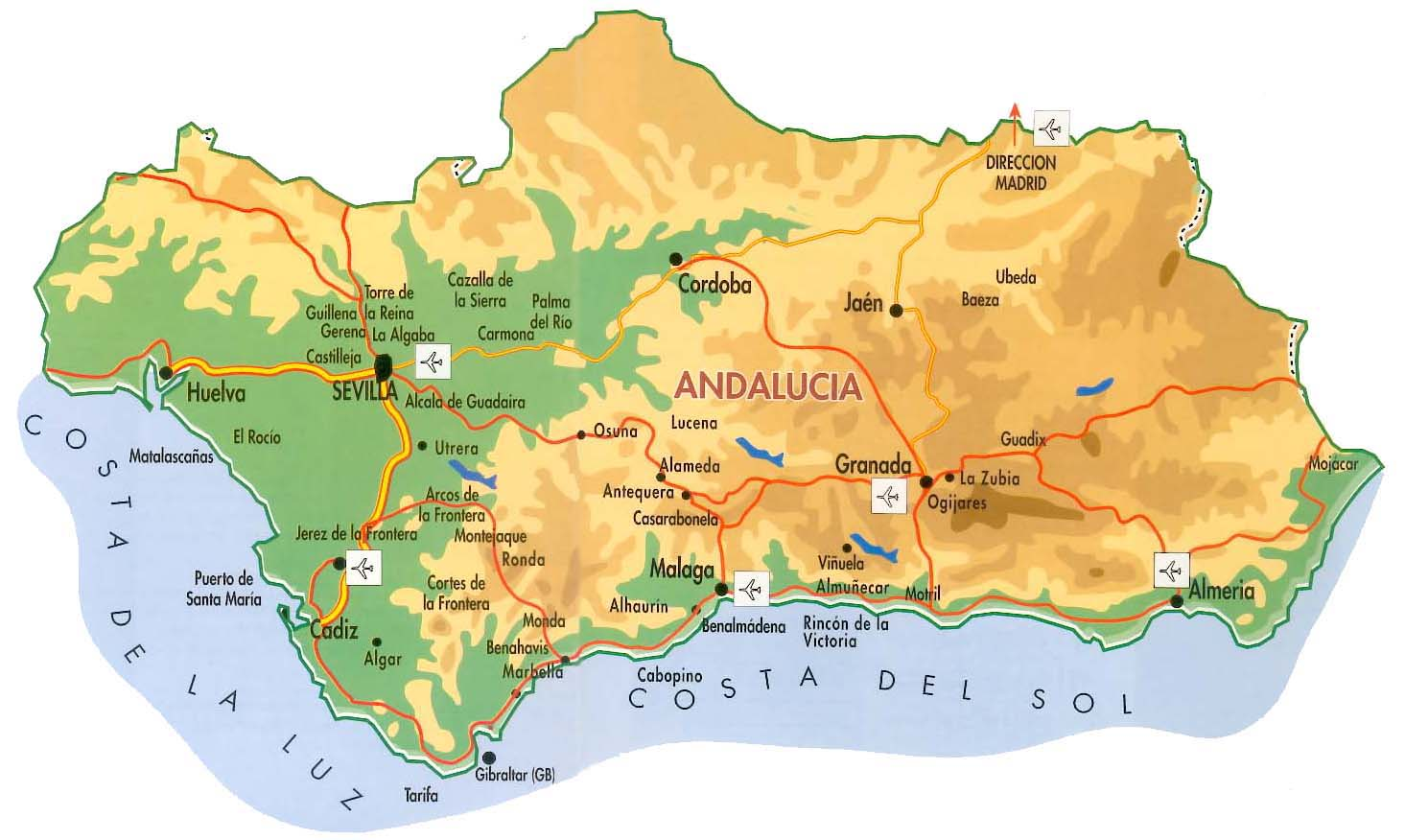 Tourisme andalousie carte - Office tourisme andalousie ...